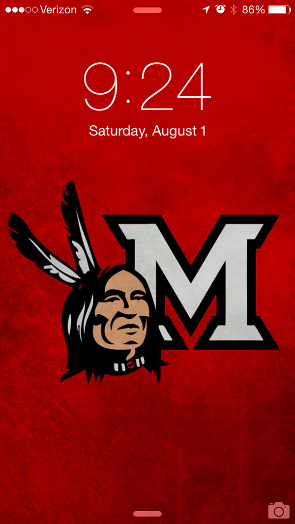 Miami University Redskin Logo Backgound